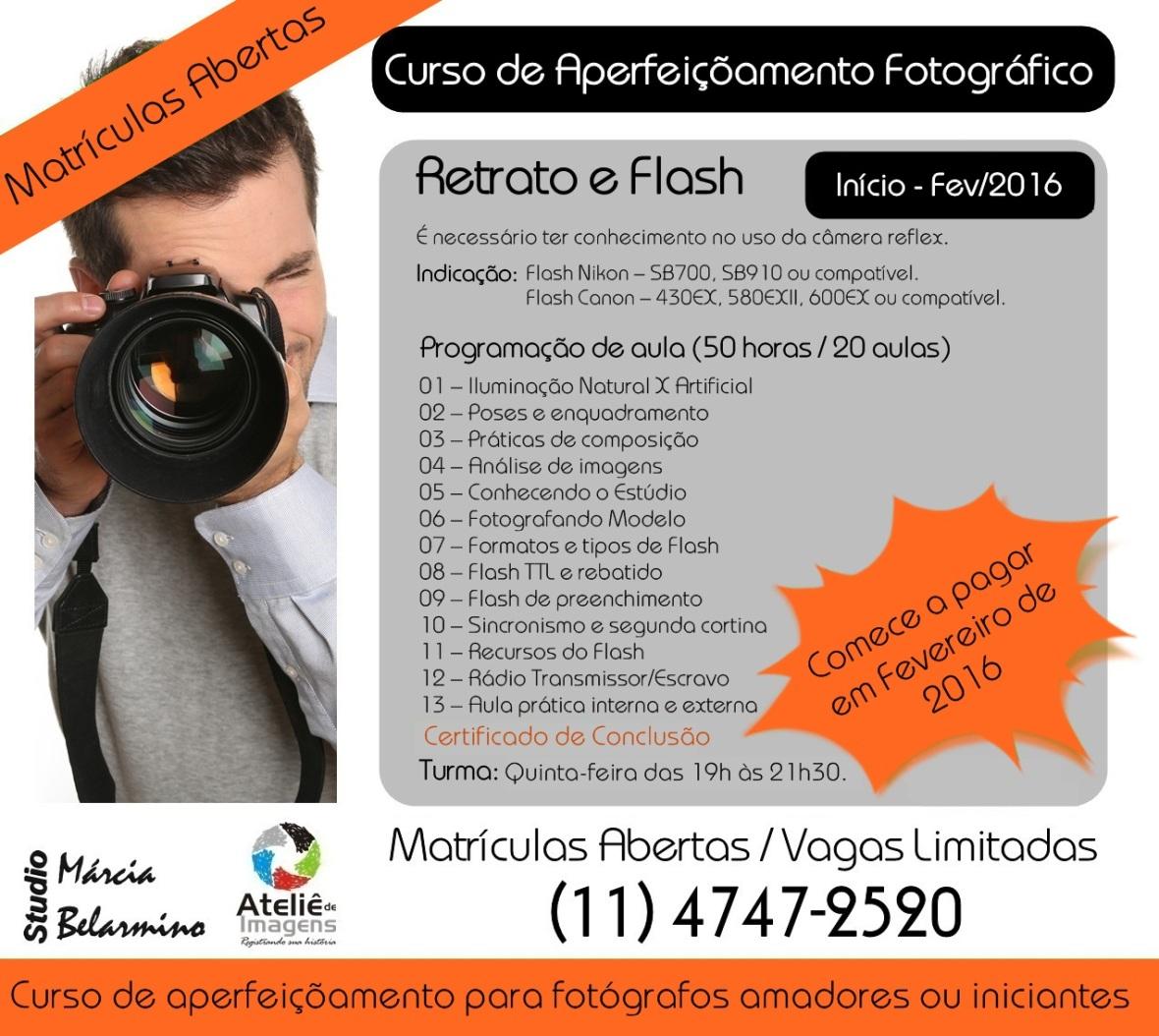 Divulgação Módulo II -  Retrato e Flash - FEVEREIRO 2016